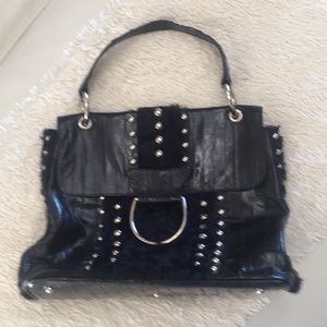 Dolce & Gabbana eel and fur studded top handle bag